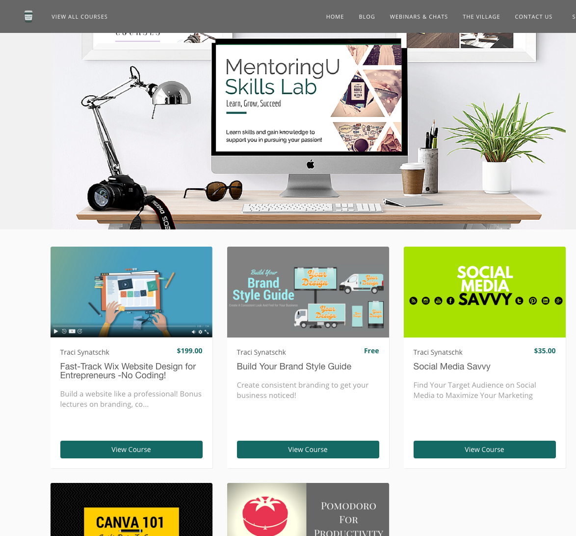 MentoringU Skills Lab offers E-Learning for Entrepreneurs